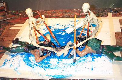 Soldiers with Skeletons. Kevin Ortinau