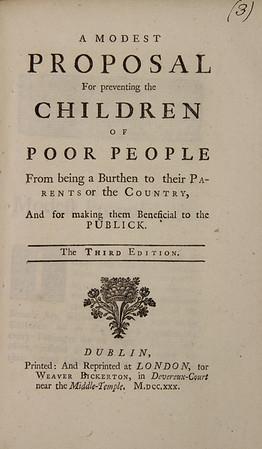 Jonathan Swift: Modest Proposal (1730)