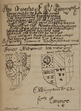 Facsimile of one of Chatterton's forged 'medieval' manuscripts.