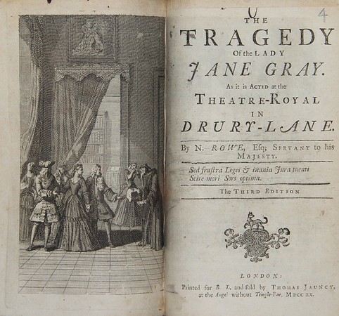 Nicholas Rowe: The Tragedy of the Lady Jane Gray