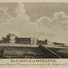 Engraving of the real Castle of Otranto, in Apulia, Italy