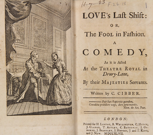 Colley Cibber, Loves Last shift (1696)