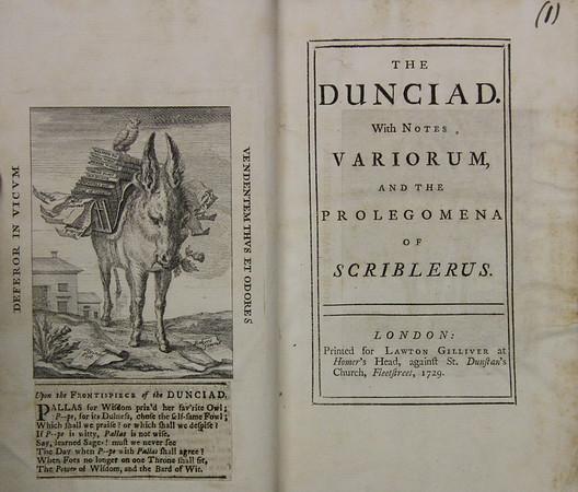 Alexander Pope: Dunciad (1729)