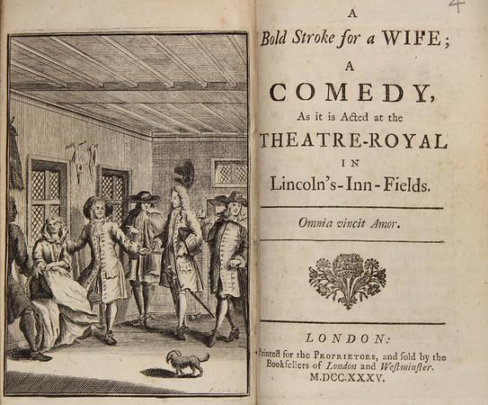 Susanna Centlivre, A Bold Stroke for a Wife (1718)
