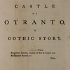 Horace Walpole: The Castle of Otranto (1764)