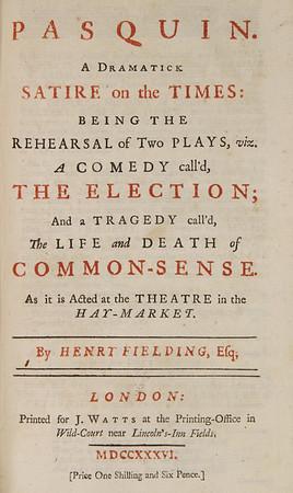 Henry Fielding, Pasquin (1736)