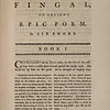 Fingal, an Ancient Epic Poem in Six Books composed by Ossian the son of Fingal (1762)