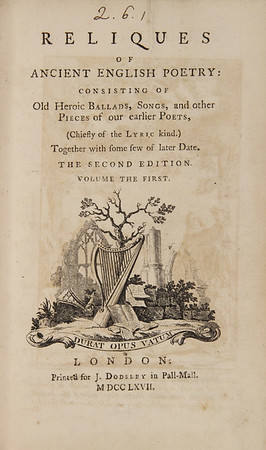 Reliques of Ancient English Poetry (1767)