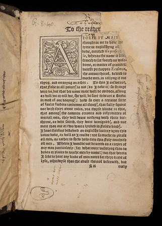 16th century marginal notes
