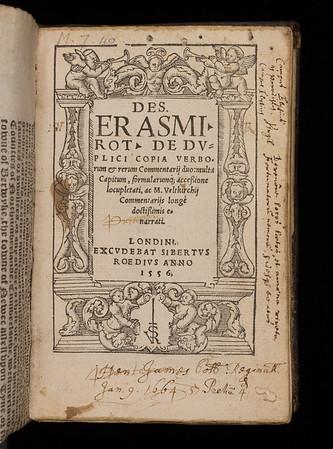 Title page of De duplici copia verborum & rerum