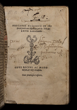 Ownership inscriptions, 16th century