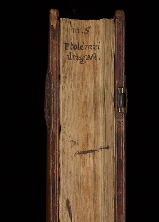 Manuscript title on fore-edge