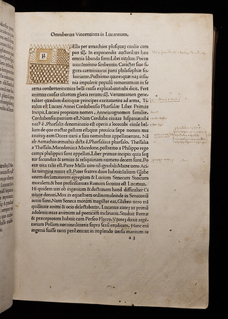 16th century annotations and ink initial