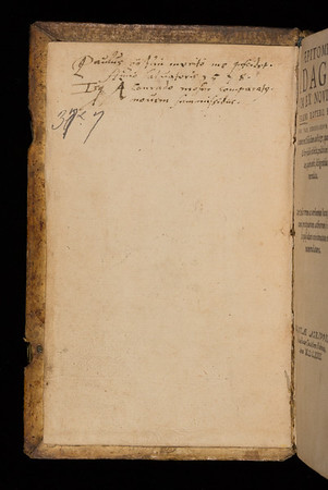 16th century annotation