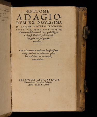 Title page of Epitome Adagiorum