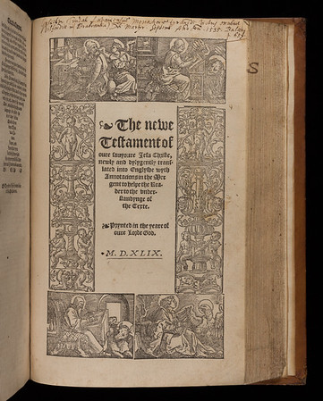 Title page of Tyndale's Byble