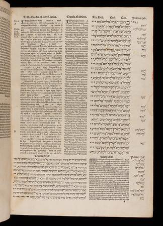 Opening of Vetus testamentum multiplici lingua nunc primo impressum
