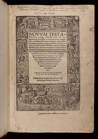 Title page of Novum Testamentum omne