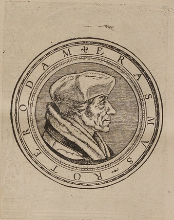Woodcut portrait of Erasmus