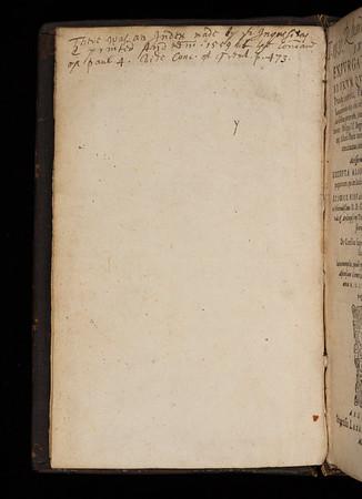 17th century annotation