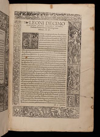 Dedication to Pope Leo X
