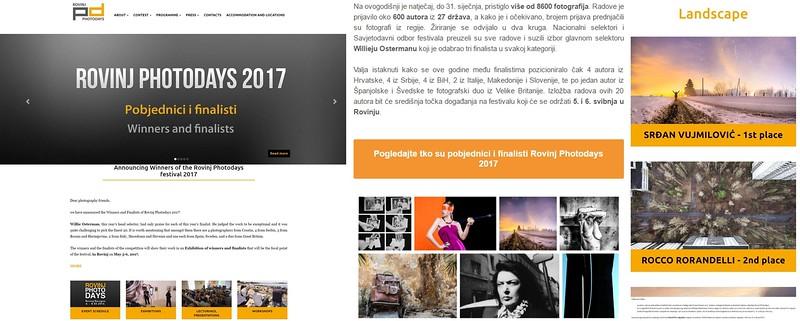 1st Place in Landscape Category at Rovinj Photodays 2017