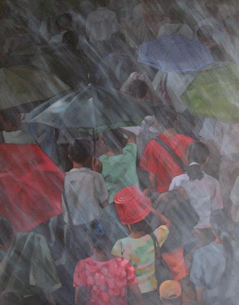 KZL - Monsoon - 135 x 105 cm - Acrylic on canvas