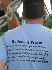 Balloonist Prayer