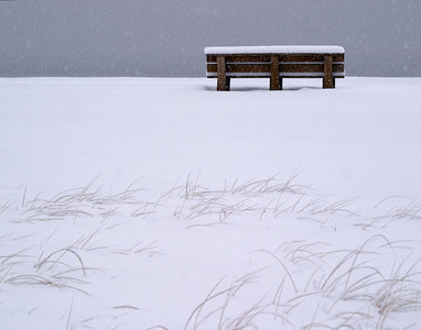 bench in snow 0828 printed 14x11