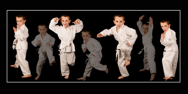 M karate collage 12x24 flattened canvas copy