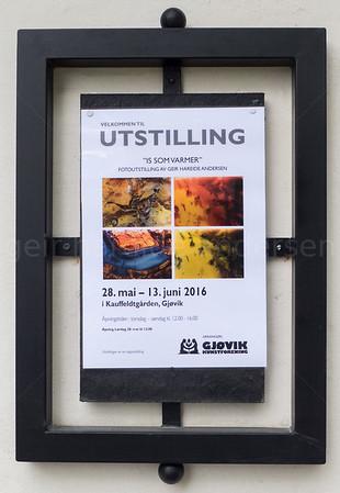 Is som varmer - Gjøvik kunstforening 2016