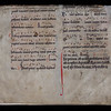 "This late thirteenth- or early fourteenth-century breviary contains music and liturgy from the Sarum Rite. It has been loosely stitched to the text block of a seventeenth-century printed book relating to geography. <br><br> <b>Author:</b> Jacques Michelet <br> <b>Title:</b> <i>Discours de geographie contenant les principales pratiques pour les descriptions de la Terre, et de la mer</i> [A geographical discourse, containing practical principles for describing the Earth and sea] <br> <b>Shelfmark:</b>  <a href=""http://idiscover.lib.cam.ac.uk/permalink/f/1nnjft8/44CAM_ALMA21413408810003606""> D.20.21</a>"