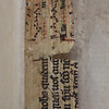 "Manuscript waste used as spine-guard from an English missal with text from Book of Acts ch. 1, v. 5 and music.  <br><br> <b>Author:</b> Rodolphus Agricola <br> <b>Title:</b><i> De inuentione dialectica libri omnes integri &amp; recogniti iuxta autographi </i> (Cologne, 1563)<br> <b>Shelfmark:</b>   <a href=""http://idiscover.lib.cam.ac.uk/primo-explore/fulldisplay?docid=44CAM_COLLPWDB783665&amp;context=L&amp;vid=44CAM_PROD&amp;search_scope=QUE&amp;tab=default_tab&amp;lang=en_US""> K.8.11</a>"