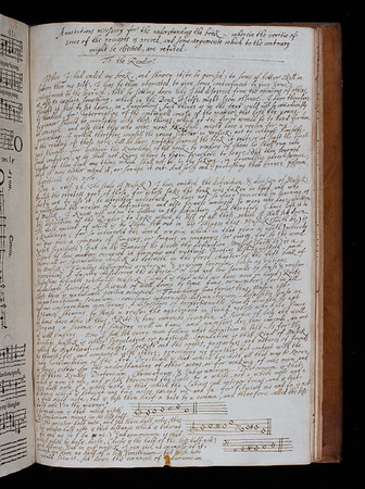 """It seems that large sections of this well-used copy were lost in the seventeenth century. A previous owner, perhaps a Queens' member, has gone to the trouble of copying out all the missing text, diagrams and illustrations by hand. <br><br> <b>Author:</b> Thomas Morley<br> <b>Title:</b><i> A plaine and easie introduction to practicall musicke</i>, 2nd ed. (London, 1608) <br> <b>Shelfmark:</b> <a href=""""http://idiscover.lib.cam.ac.uk/permalink/f/1nnjft8/44CAM_ALMA21584762960003606""""> D.2.30</a>"""