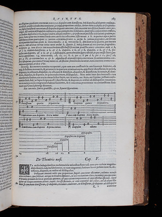 "<b>Author:</b> Marcus Vitruvius Pollio<br> <b>Title:</b><i> De architectura libri decem  </i> decem [Ten books on architecture] (Venice, 1567) <br> <b>Shelfmark:</b> <a href=""http://idiscover.lib.cam.ac.uk/permalink/f/1nnjft8/44CAM_ALMA21394501550003606""> F.2.24</a>"