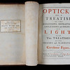 "Book label acknowledging the bequest of this book by Isaac Milner in 1820 following his death. <br><br> <b>Author:</b> Isaac Newton <br> <b>Title:</b><i> Opticks or, A treatise of the reflexions, refractions, inflexions and colours of light </i>(London, 1704) <br> <b>Shelfmark:</b> <a href=""https://idiscover.lib.cam.ac.uk/permalink/f/1nnjft8/44CAM_ALMA21606041340003606""> A.14.27</a> <br> <b>Provenance: </b> Formerly owned by Isaac Milner (1750–1820)"
