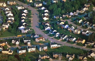 A Cockeysville neighborhood as seen from the air. MF-F