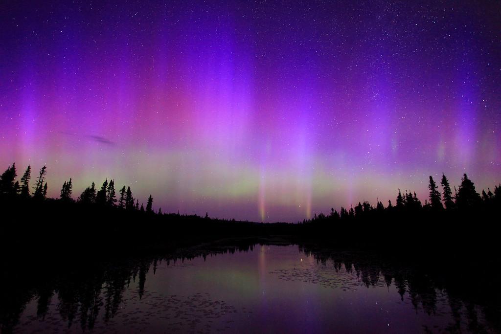 """AURORA 8527<br /> <br /> """"Cascade River Aurora"""""""