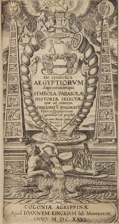 Nicolas Caussin (1583-1651). De symbolica Aegyptiorum sapientia [On the Symbolic Wisdom of the Egyptians]. Cologne, 1631. [H.8.29]