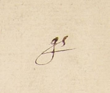 John Smith's signed initials