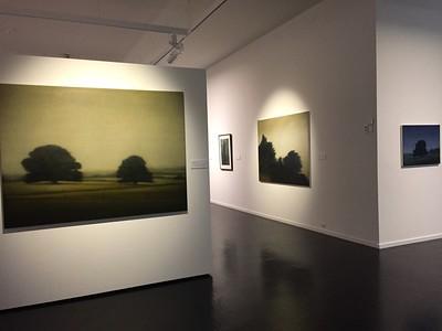 L-R Cudgee Landscape 2004, Elizas Departure 1995,Sienna Cypress 2012, Cudgee Tree II, 2005