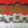 Min Zaw, Ordinary People #9, Acrylic on Canvas, 2014. 50 X 36 in.