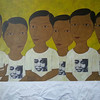 Min Zaw, Ordinary People #8, Acrylic on Canvas, 2014. 50 X 36 in.