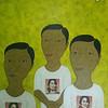 Min Zaw, Ordinary People #12, Acrylic on Canvas, 2014. 50 X 36 in.