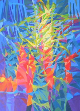 Kyaw Soe, New Life Story (3), Acrylic on Canvas, 2014. 39 X 30 in.