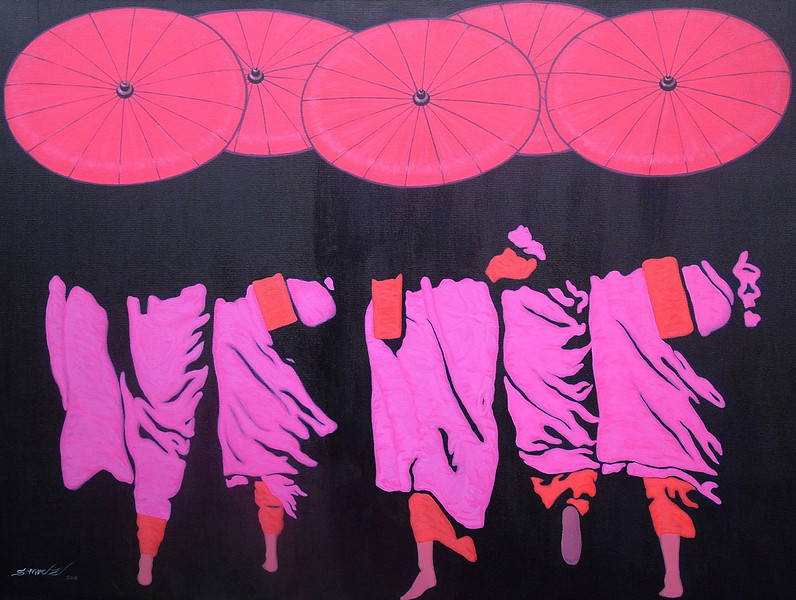 S. Moe Z., Deep Shade (8), 2010. Acrylic on canvas. 49 x 37 in (92 cm x 122 cm).