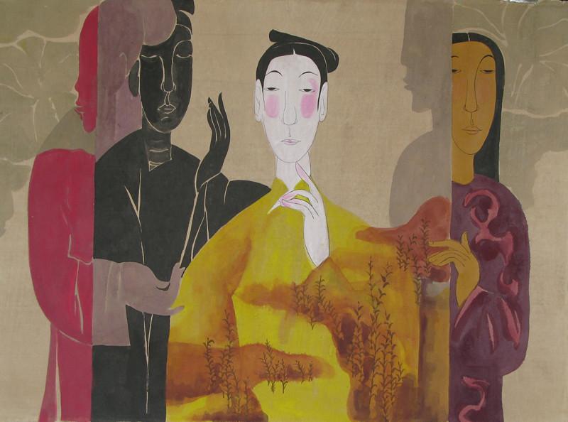 Vu Thu Hien, The time In Between 1 80 x110cm, Watercolour on Dzo paper