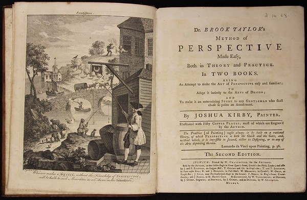 Joshua Kirby, Dr. Brook Taylor's Method of Perspective Made Easy (Ipswich, 1760). Formerly owned by Isaac Milner.