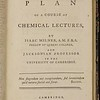 Isaac Milner, A Plan of a Course of Chemical Lectures (Cambridge, 1784)