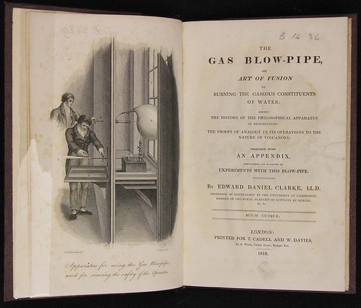 Edward Daniel Clarke, The Gas Blow-Pipe (London, 1819)